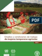 FAO - Empleo y condiciones de trabajo de mujeres temporeras agrícolas