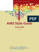 AMS Style Guide
