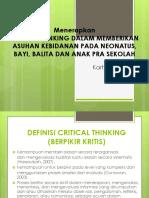 Menerapkan Critical Thinking