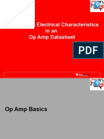 Texas Instrumetn TI Electrical Characteristics in an Op Amp DS