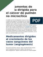 Tratamiento Para Cancer de Pulmon No Microcitico