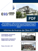Informe de Avance N°17-al 30-04-17