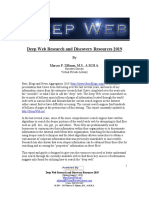 Deep Web Research and Discovery Resources 2019 By Marcus P. Zillman, M.S., A.M.H.A.