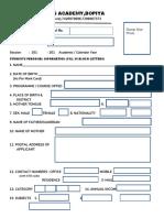 1 Divine Institute Admission Form Bab