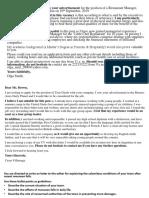 Letter Samples