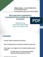Marco legal de Protección de derechos
