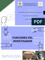 Funciones Del Investigador