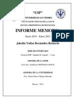 Informe Memoria Jakelyn