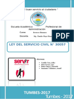 Ley Servicio Civil 30057