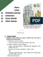Preliminary Matters