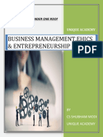Business management, Ethics and entrepreneurship all definition