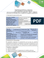Guía de Actividades y Rúbrica de Evaluación - Fase 2. Elaborar Documento de Identificación y Análisis de Variables Estadísticas