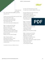 PERFECT - Ed Sheeran (Impresión)