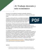 Objetivo 8 (Trabajo Decente y Crecimiento Economico)
