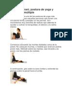 Viparita Karani Postura de Yoga y Esclerosis Multiple