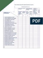 Lista de Cotejo Para Evaluar Planificacion de Texto