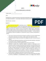 Anexo 1. Carta de Presentacion de La Propuesta
