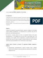 Producción Familiar Campesina y Los Mercados
