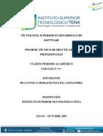 7.1 Informe de Practicas Pre Profesionales