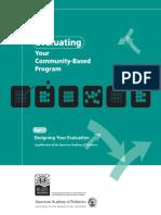 Evaluating Your Community Based Program Part I