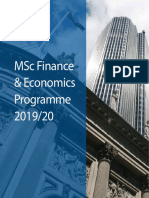 MSc Finance and Economics Brochure 2019