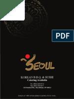 Seoul BBQ Sushi Dinner