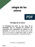 6. Psicología de Color