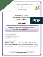Étude Géologique Et Pétro Physique d'Un Niveau Réservoir (H-C)