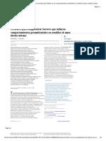 Un Marco Para Diagnosticar Los Factores Que Influyen en Los Comportamientos Ambientales en El Diseño Urbano Sensible Al Agua