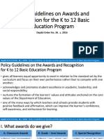 Policy Guidelines on Awards and Recognition