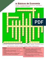 4. Conceptos Basicos de Economia - Crucigrama