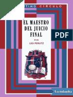 027 El Maestro Del Juicio Final - Leo Perutz