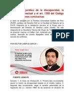 El Régimen Jurídico de La Discapacidad - Hector Campos