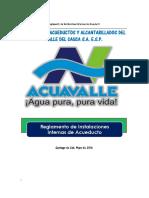 Reglamento de Instalaciones Internas Acuavalle s a s 2016