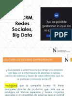 Semana 02 ERP, CRM, Redes Sociales, Big Data