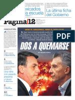 Diario Página 12. Nacional.