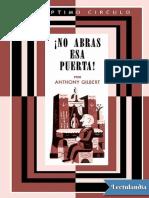057 No Abras Esa Puerta - Anthony Gilbert
