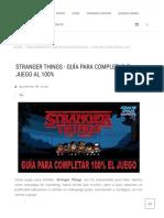 Guía juego stranger things