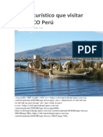 Lugare Turístico Que Visitar en CUZCO Perú