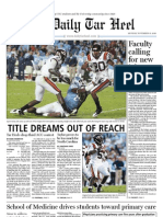 The Daily Tar Heel for November 15, 2010