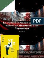 Diego Ricol - En México Se Realizó La Primera Edición de Muestra de Cine Venezolano