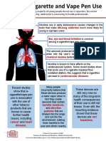 Risks of E-Cigarette Factsheet