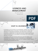 Bussines and Management