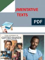 12-15. Argumentative Texts