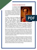 Biografia de Simón Bolívar