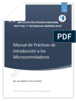 Manual de prácticas de microcontroladores