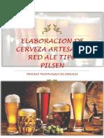 Elaboracion de Cerveza Artesanal Red Ale Tipo Pilsen