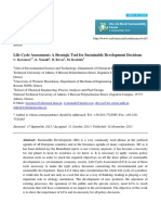 Life Cycle Assessment- A Strategic Tool for Sustainable Development Decisions
