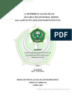 Pedoman Wawancara Pendidikan Agama Islam