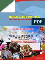 Resolusi Partai Rakyat Demokratik (PRD) terhadap Permasalahan Papua - Buku Saku